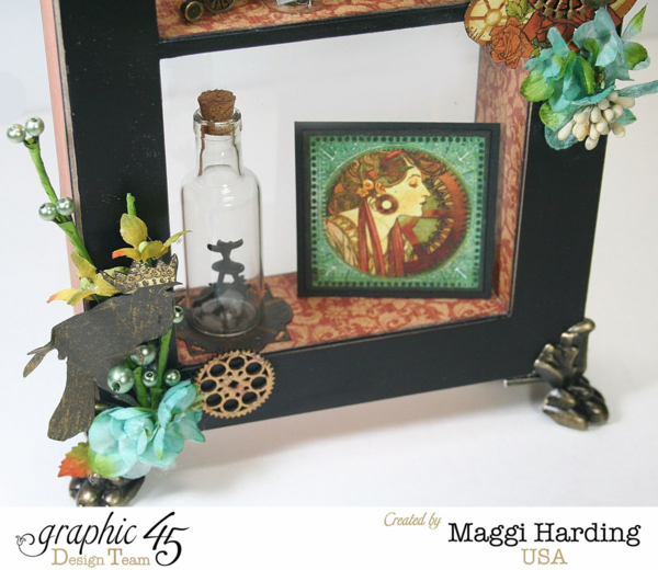 Window shadow box, Steampunk Debutante, Maggi Harding, Graphic 45