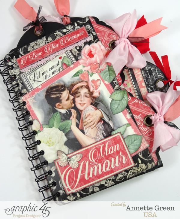 Mon Amour multi tag mini album by Annette #graphic45