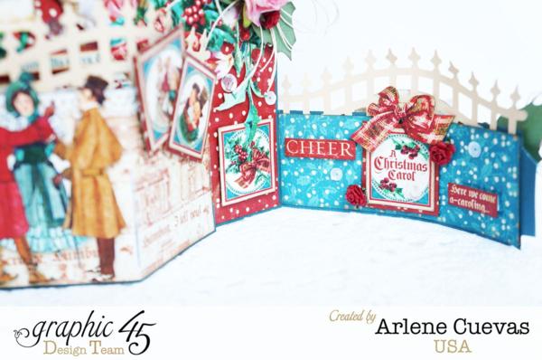 A Christmas Carol bendi card + tutorial by Arlene #graphic45
