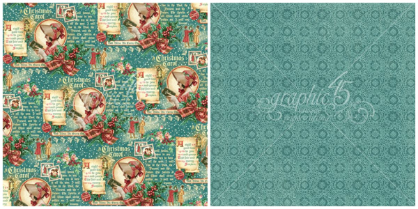 """""""Seasonal Sentiments"""" from A Christmas Carol - this new collection will be in stores in late August 2015 #graphic45 #sneakpeeks"""