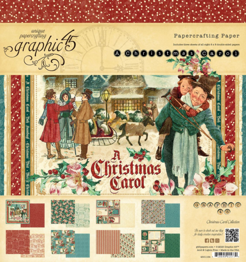 The 8x8 Paper Pad of A Christmas Carol. This new collection will be in stores in late August 2015 #graphic45 #sneakpeeks