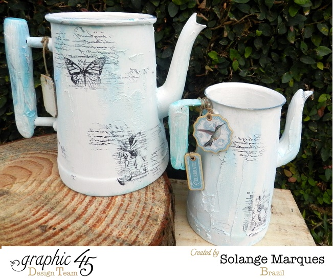 Altered Tea-pot by Solange Marques using Graphic 45 Stamps and chipboard tags (5)