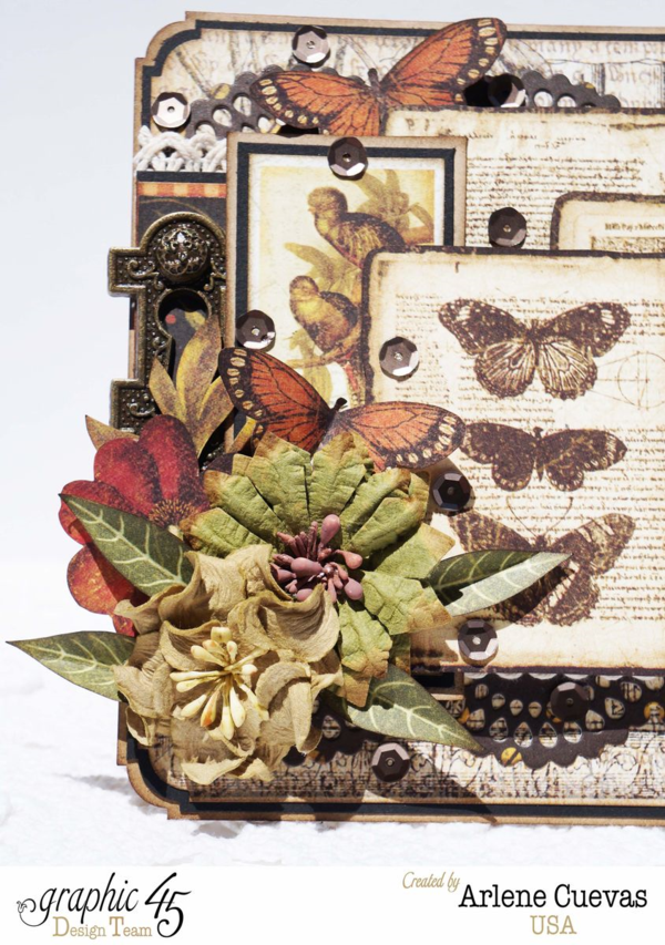Beautiful Botanicabella card by Arlene #graphic45