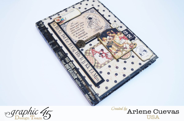 """""""School Days"""" journal by Arlene using An ABC Primer #graphic45"""