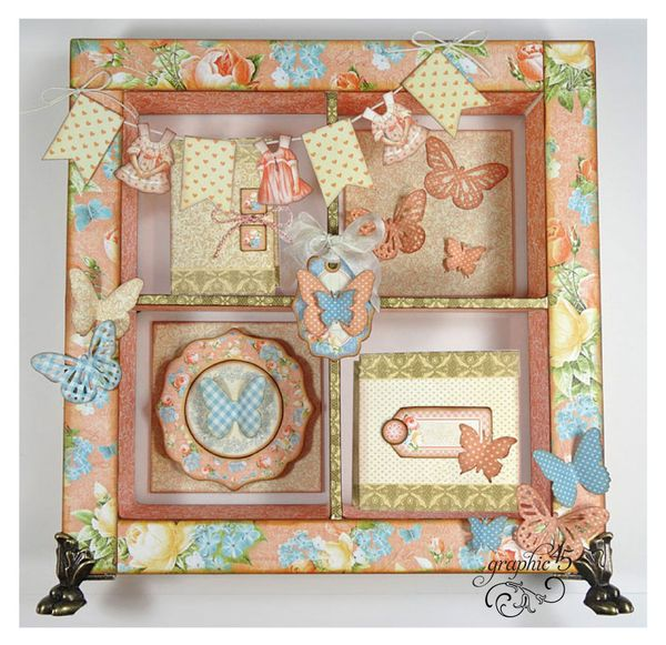 Try this Precious Memories Window Shadowbox free printable Project Sheet #graphic45