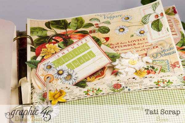 Tati, Wedding Planner, Mixed Media Album, Time to Flourish, Product by Graphic 45