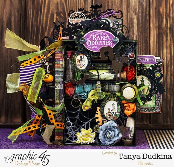 Rare Oddities mini album by Tanya. Amazing details! #graphic45