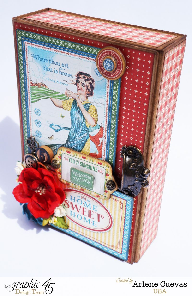 Altered Box and Album_HomeSweetHome_ArleneCuevas_Graphic45_Photo6