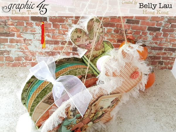 Rabbit Lantern Mini Album - Graphic 45 - Once Upon a Springtime - Belly Lau - 1