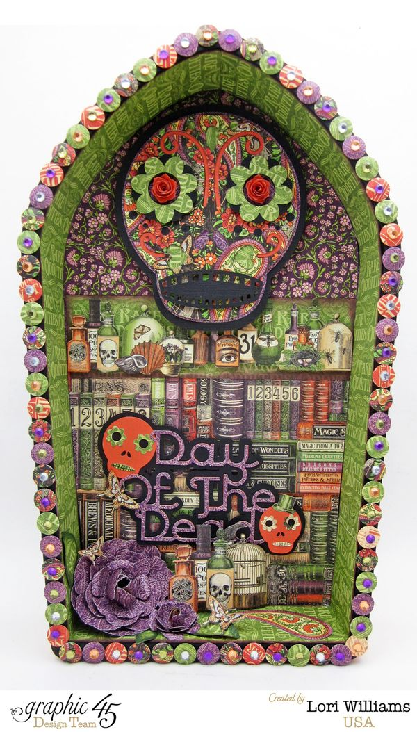 Lori Williams Rare Oddities Day of the Dead Box Graphic 45 Project Groove Tool