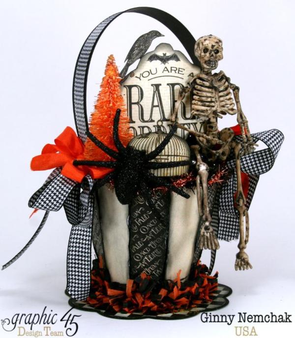 Art-c Vintage Halloween Basket by Ginny Nemchak using Rare Oddities #graphic45