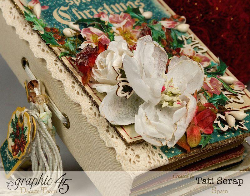 Tati, December Daily, Mini Album Christmas Carol, Product by Graphic 45, Photo 2
