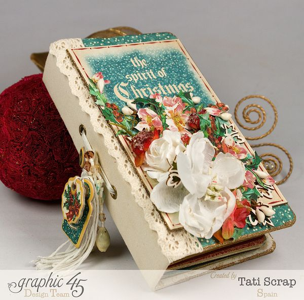 Tati, December Daily, Mini Album Christmas Carol, Product by Graphic 45, Photo 1