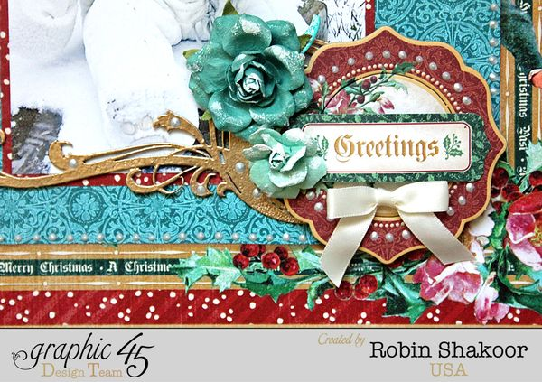 Treasure Layout, A Christmas Carol, by Robin Shakoor, Product by Graphic 45, Photo 1