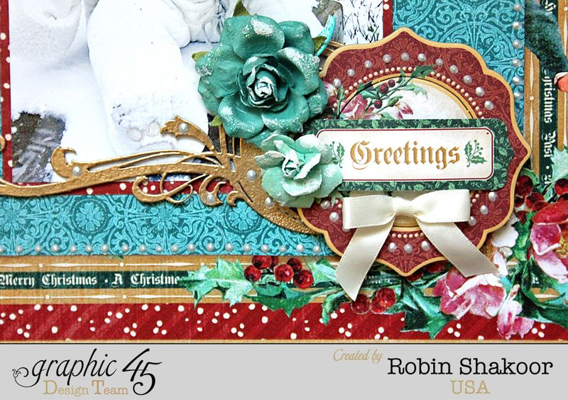 Treasure Layout, A Christmas Carol, by Robin Shakoor, Product by Graphic 45, Photo 2