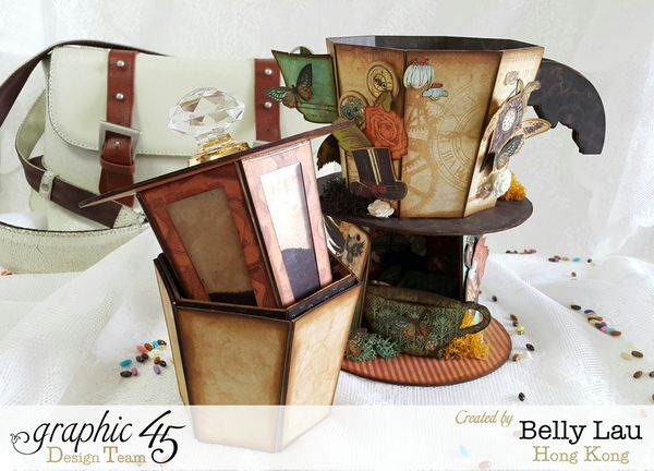 Coffee Maker Photo Display Home Decor - Graphic 45 - Steampunk Debutante - Belly Lau - Front