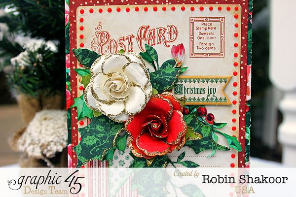 Christmas Joy Card, A Christmas Carol, by Robin Shakoor, Product by Graphic 45, Photo 1