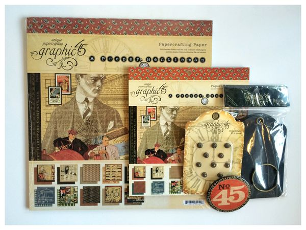 $40 A Proper Gentleman Crafter Graphic 45 Prize Pack