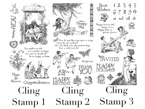 Graphic 45 Children's Hour Cling Stamps #sneakpeeks