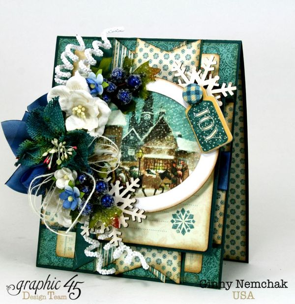 Blue Christmas Card Graphic 45 1