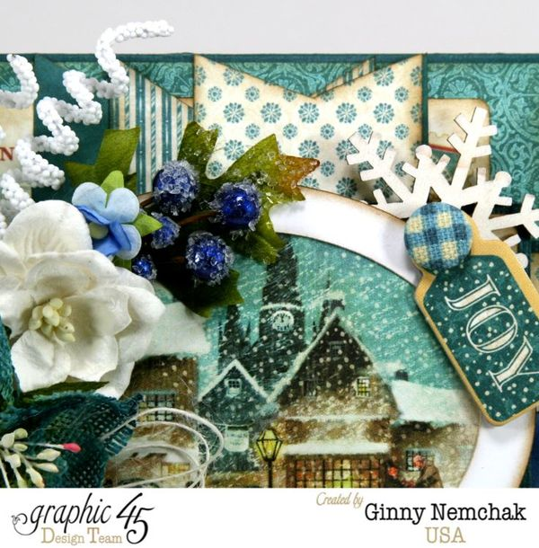 Blue Christmas Card Graphic 45 5