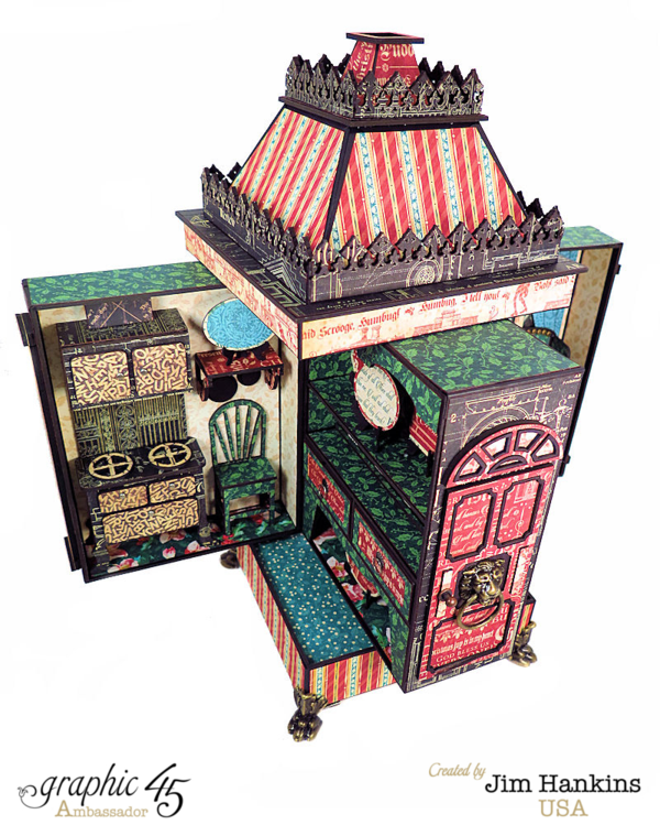 Dicken's Townhouse with Mini Album by the incredible Jim, The Gentleman Crafter #graphic45
