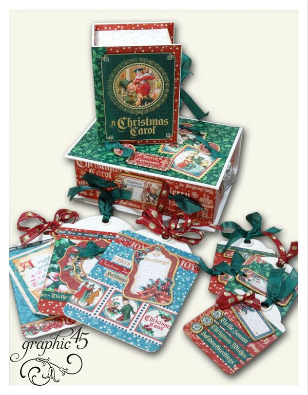 Try-this-A-Christmas-Carol-stacked-book-boxes-&-tags-project-sheet!-#graphic45