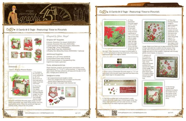 Try this December Cards & Tags Time to Flourish Project Sheet! Fun! #graphic45