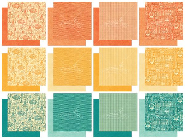 Voyage Beneath the Sea 6x6 Patterns & Solids Paper Pad, a new Graphic 45 paper collection #graphic45 #sneakpeeks