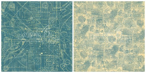 2 - Map the Past, a page from Cityscapes, a new 2016 paper collection from Graphic45 #sneakpeeks #graphic45