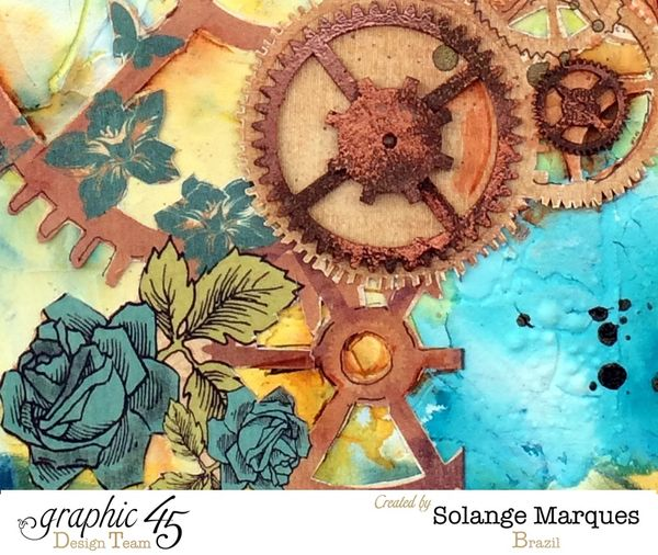 Art journal pages by Solange Marques with G45 Steampunk Debutante Delluxe Collectors Edition 1