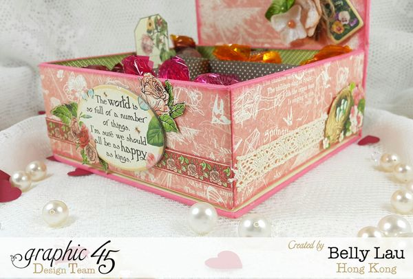 Sweet Chocolate Bar - Graphic 45 - Petaloo - Blog Hop - Children's Hour - Belly Lau - Papercraft Buffet - Photo 1 - Tutorial