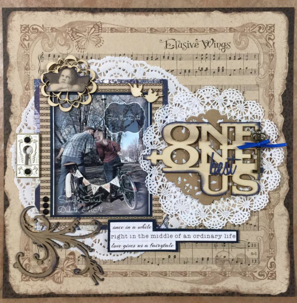 Beautiful Kraft Reflections layout by Anne M. Schilling #graphic45
