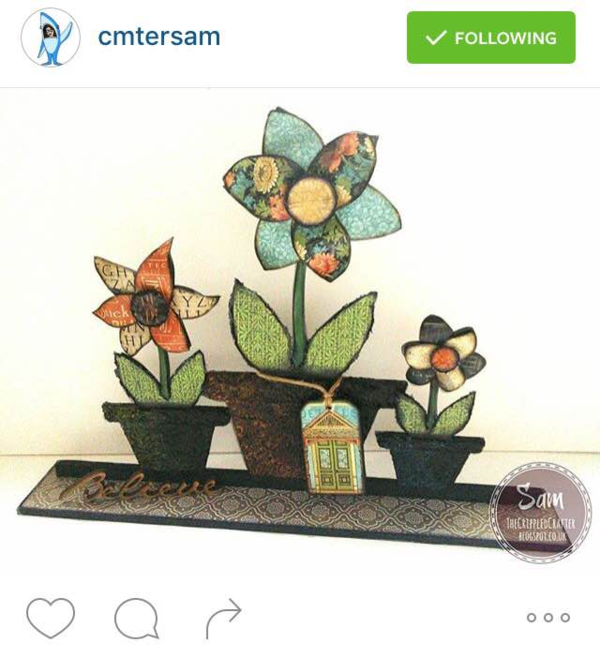 Beautiful Artisan Style altered flowers by Instagram user cmtersam #graphic45