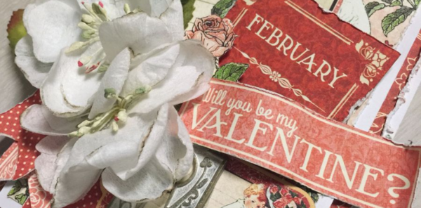 Valentine's Card, Children's Hour, by Danielle Copley, Graphic 45, Photo 3