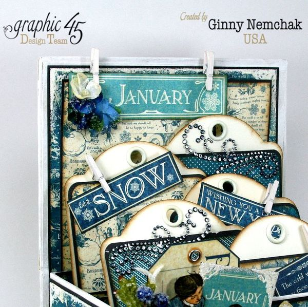 Children's Hour Graphic 45 Winter Trunk with Tags 1