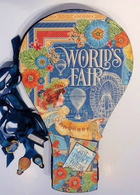 SCRAPBOOKING- CREATING-CRAFT-GRAPHIC 45-WORLD'S FAIR-PHOTO-ALBUM-HOT AIR BALLOON, FEATURED -ARTIST-ANNE ROSTAD-HOW TO-MAKE- NEW-IDEA-G45-LO- PAGE-FREE-TUTORIAL-TEMPLATE- MEASUREMENTS-BOX-STAND-COVER- ANNE ROSTAD- (13)