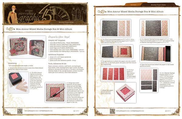 Mon Amour Box & Mini Project Sheet Sneak Peek #graphic45
