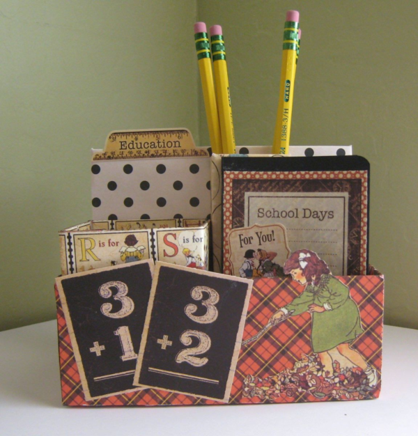 Mary Ann Murphy is our randomly chosen January Challenge winner! Love this pencil box using An ABC Primer! #graphic45