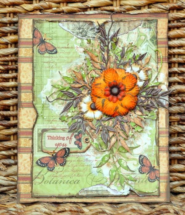 Botanicabella card by Denise Van Deventer #graphic45
