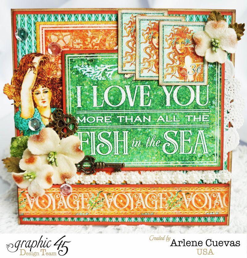 Card, Voyage Beneath The Sea, Arlene Cuevas, By Graphic 45, Photo1