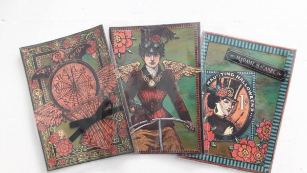 Steampunk Spells ATCs by @femmalicious #graphic45