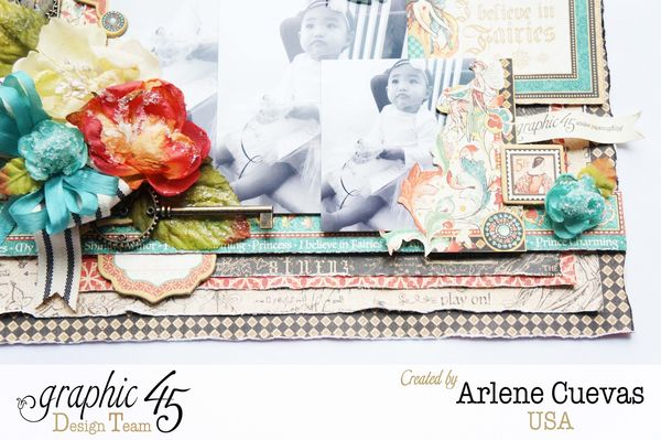 Layout, Enchanted Forest, Arlene Cuevas, May Arts Blog Hop, Product by Graphic 45, Photo 1