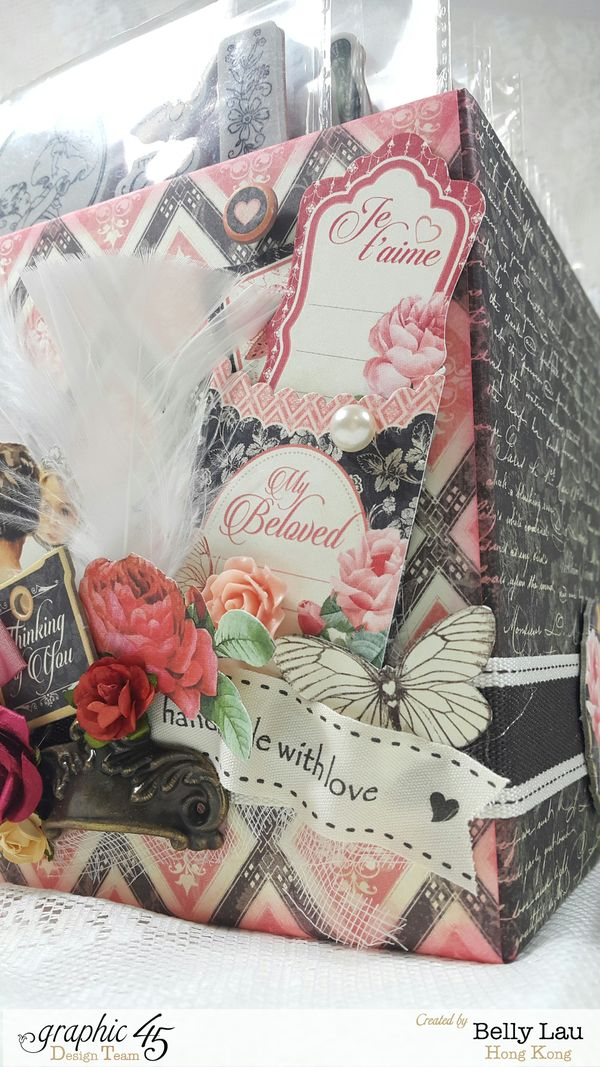 Stamp Storage Box - Graphic 45 - Mon Amour - May Arts Blog Hop - Belly Lau - Photo 1