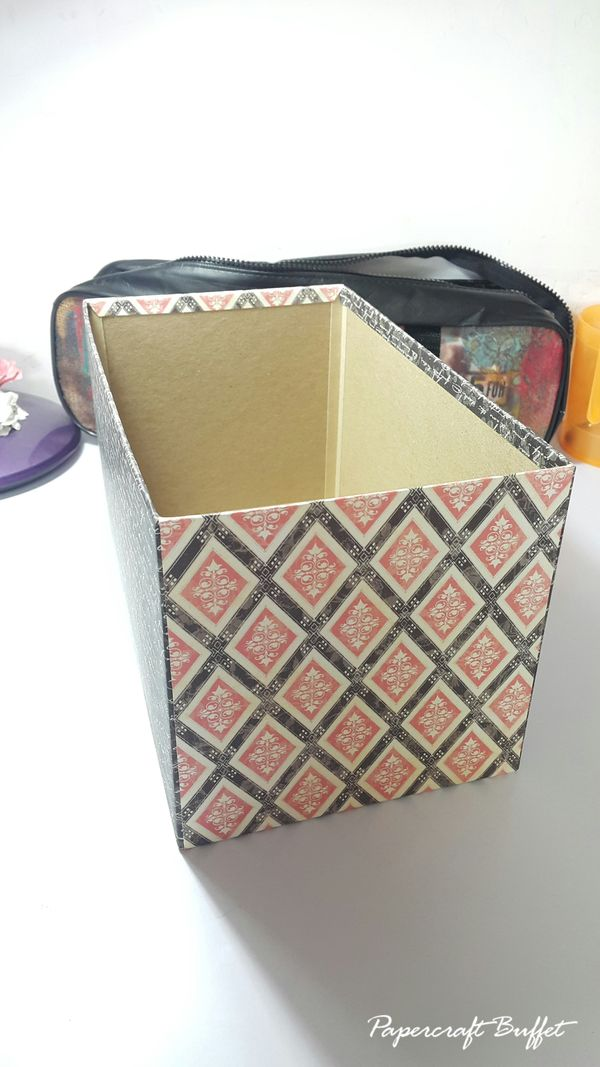 Stamp Storage Box - Graphic 45 - Mon Amour - May Arts Blog Hop - Belly Lau - Tutorial 3