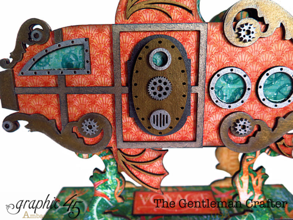 Amazing altered watership by Jim the Gentleman Crafter using Voyage Beneath the Sea #graphic45