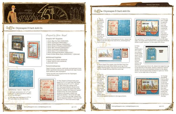 Try this Communique Cards free Project Sheet! #graphic45