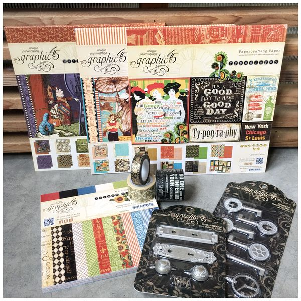 $60 Vintage Variety Pack, 8x8- Halloween in Wonderland, On the Boardwalk, Typography, and a 6x6 French Country pp, Washi, and (new) Staples - 2