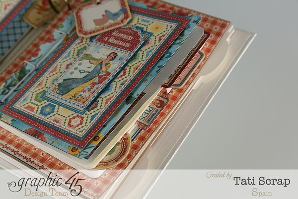 Tati, Mixed Media Album, Recipe Book, Home Sweet Home, Product by Graphic 45, Photo 1