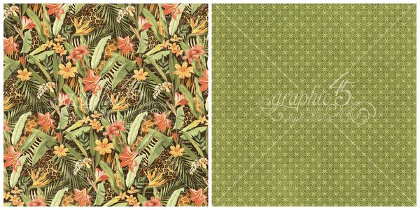 2 - Lush Landscape from Safari Adventure, a new collection from Graphic 45